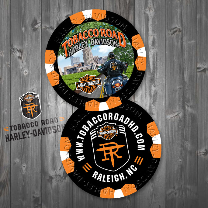 Tobacco Road Harley-Davidson Poker Chip