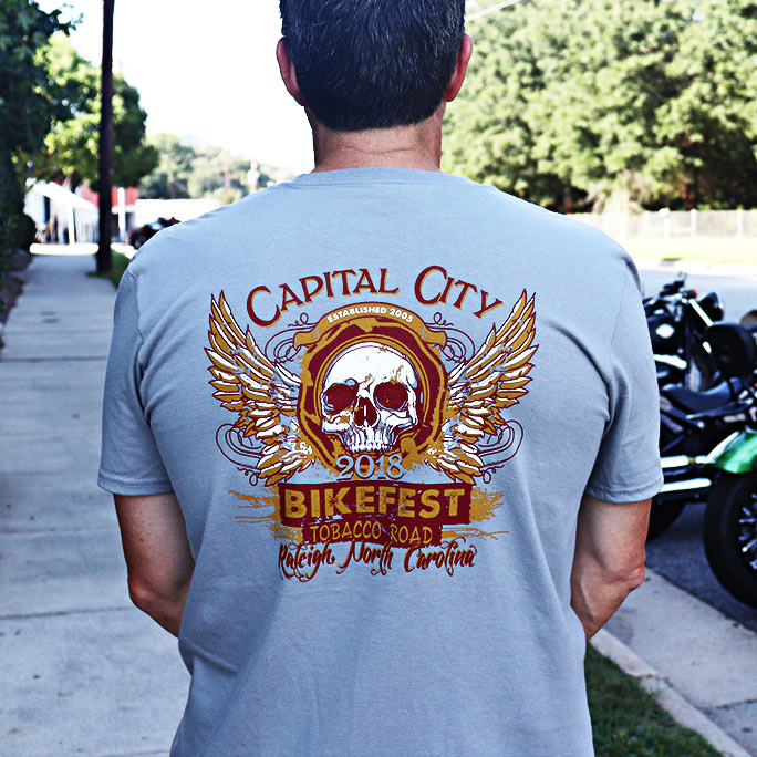 2018 Capital City Bikefest Skull & Wings T-Shirt