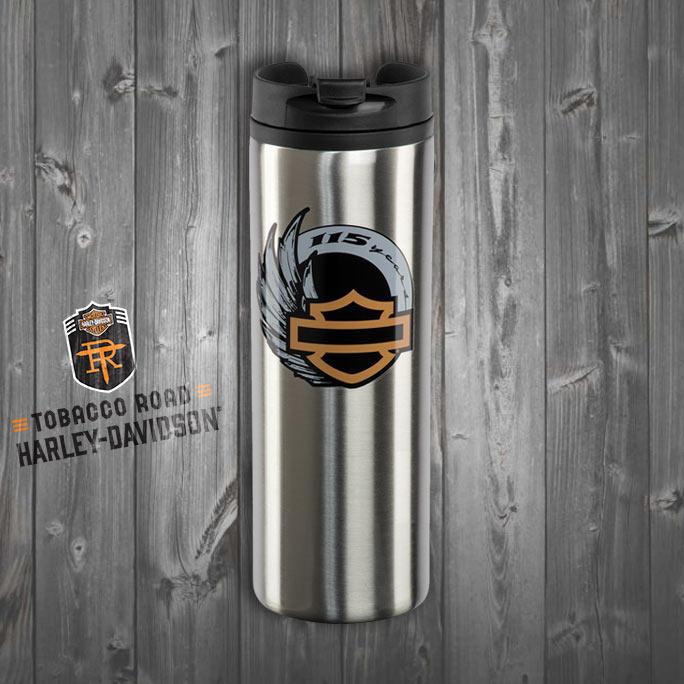 Harley-Davidson® 115th Anniversary Stainless Steel Travel Mug