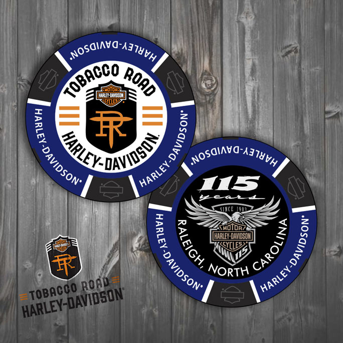 Tobacco Road Harley-Davidson 115th Anniversary Poker Chip