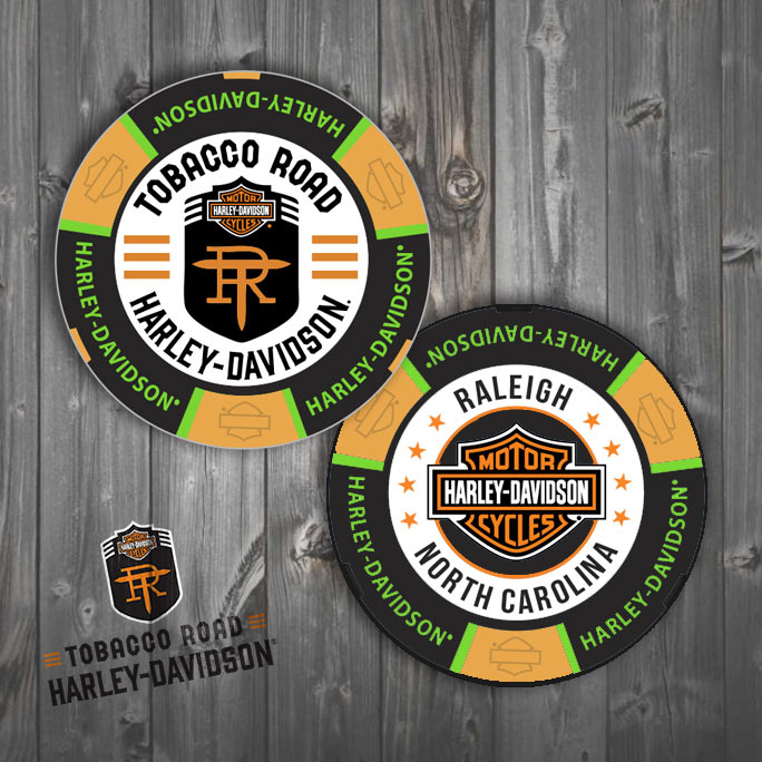 Tobacco Road Harley-Davidson Poker Chip