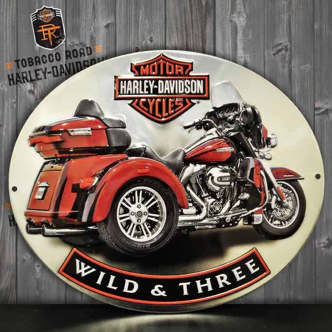 Harley-Davidson® Wild & Three Metal Shop Sign